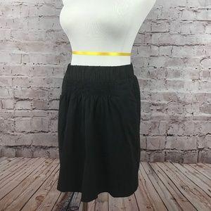 Black Rouched Mini Skirt